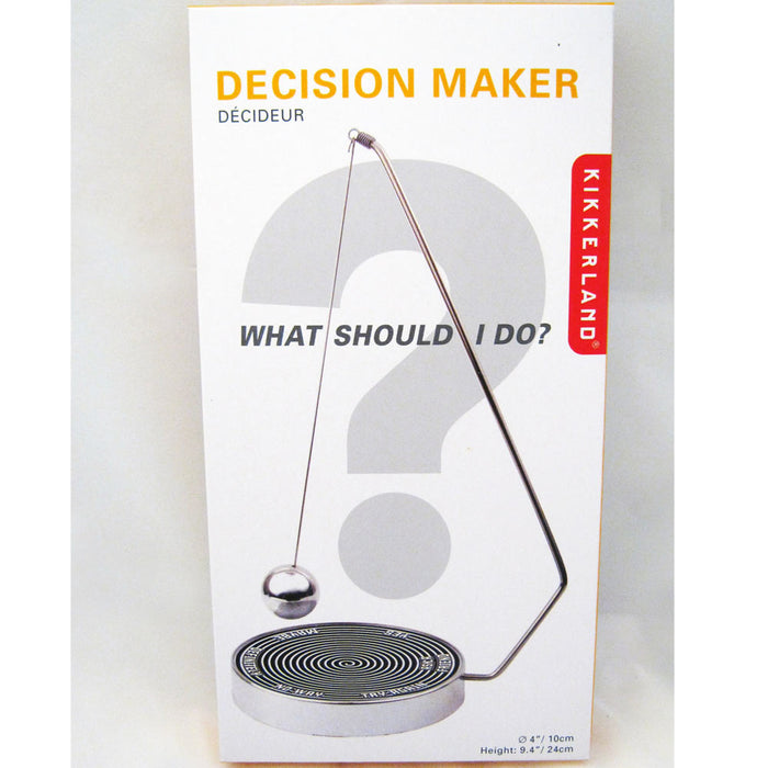 Kikkerland Magnetic Decision Maker Swinging Pendulum Game Fate Fun Desk Office