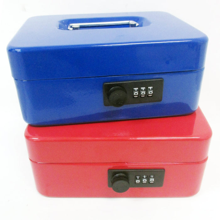 Metal Cash Box Security Safe Combination Lock Case Small Gun Jewelry Money Box