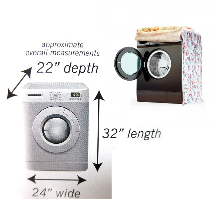 2 Waterproof Washing Machine Zippered Dust Cover Protection Durable Front Load