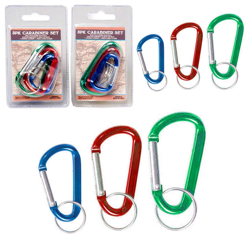 6 X Mini Aluminum Carabiner Camp Hiking Snap Hook Lock Clip On Attach Keychain