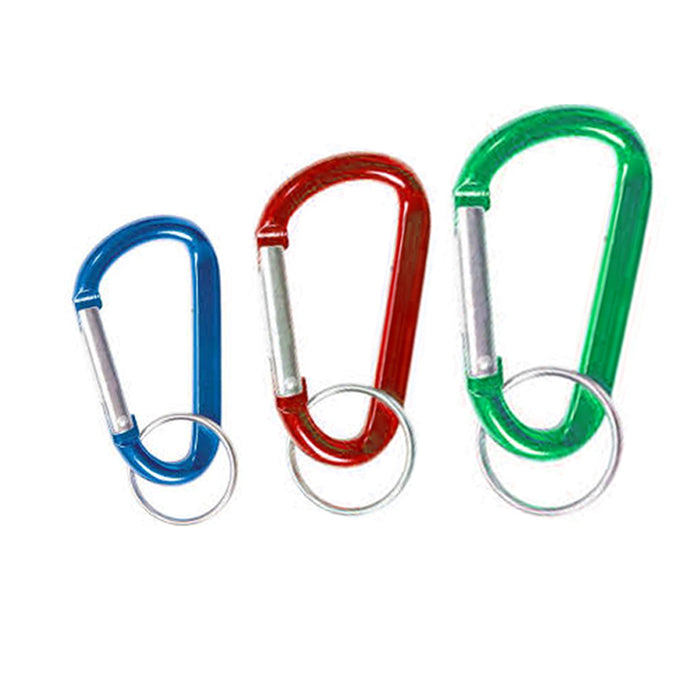 12 X Mini Aluminum Carabiner Camp Hiking Snap Hook Lock Clip On Attach Keychain