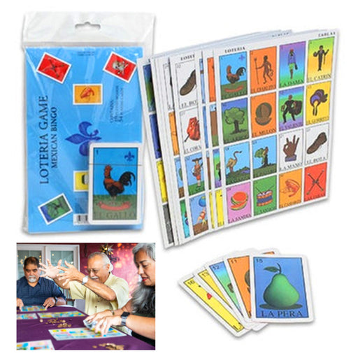 Jumbo Loteria Game Mexican Bingo Spanish Lottery 10 Boards 54 Playing Cards Gift