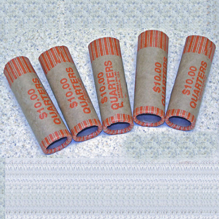 72 Rolls Preformed Coin Wrappers Paper Tubes For Quarters NF String Holds $10 Ea