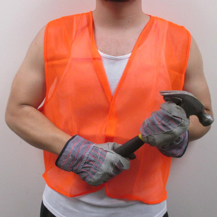 1ca1ccf76e8cc ... New Construction Traffic Safety Vest Mesh School Hunting Orange Yellow  One Size ...