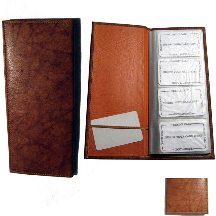 Genuine Leather 160 Cards Business Credit Card Holder Book Case Keeper Organizer