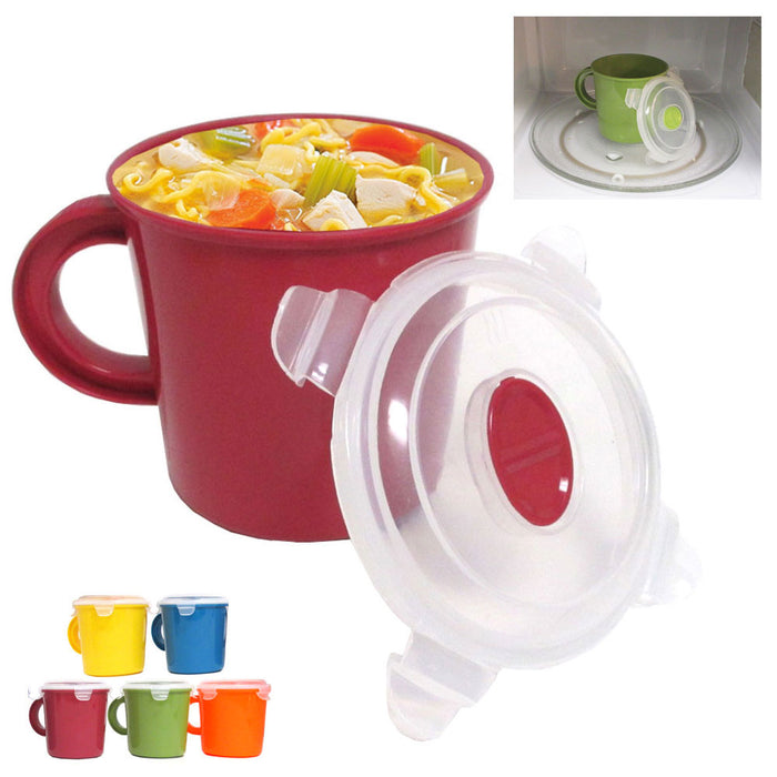 Microwave Food Soup Container Cookware Cup Mug Noodles Bowl Storage Lid BPA Free