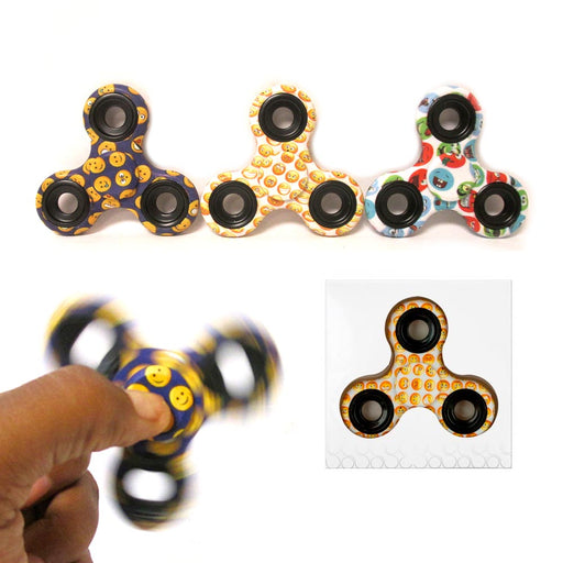 12 Emoji Gyro Tri-Spinner Fidget Toy Emoticon EDC Finger Spinner Desk Focus ADHD