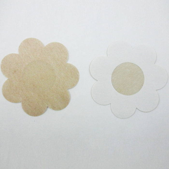 10 X Breast Nipple Cover Petal Self Adhesive Bra Pasties Flower Shape Nude 3""