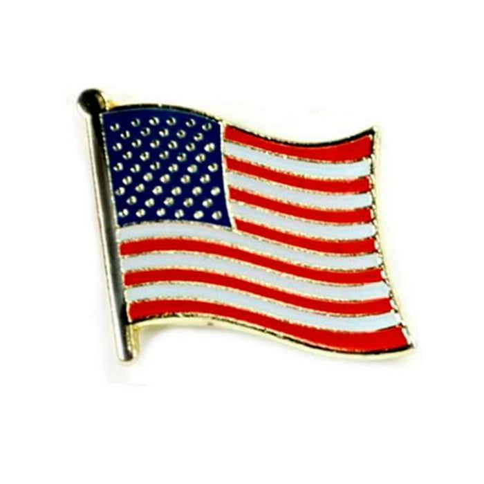 10 American Flag USA Lapel Pin Tie Tack United States Patriotic Badge Brooch New