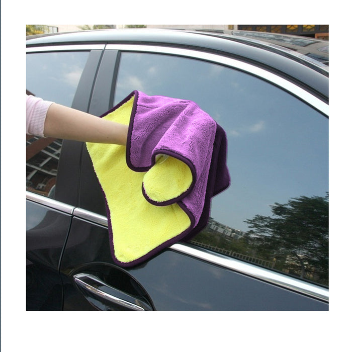2 Pc Ultra Plush Drying Cloth Detail Wash Car Vehicle Washing Pad Cleaning Wipe