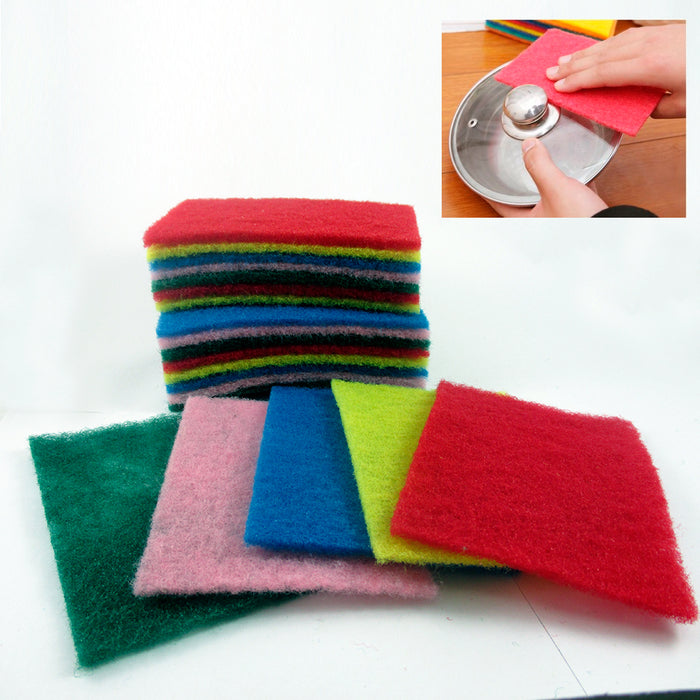 100 Scouring Pads Medium Duty Home Kitchen Scour Scrub Cleanning Pad Wholesale !