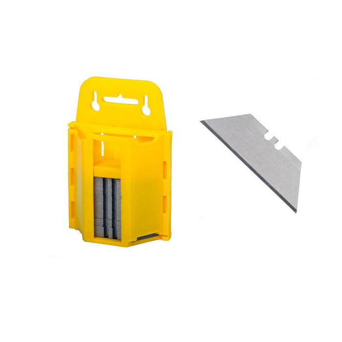 100 Standard Utility Knife Blades Box Cutter Razor Safety Dispenser Replacement
