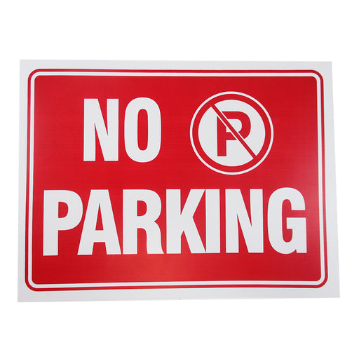 2 Pc Red & White 9 x 12 Inch Flexible Plastic No Parking Sign Anytime Private !