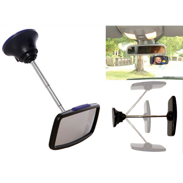 Deluxe Baby Car Mirror 360?? Adjustable Child Safety Seat Rear Facing Clear View