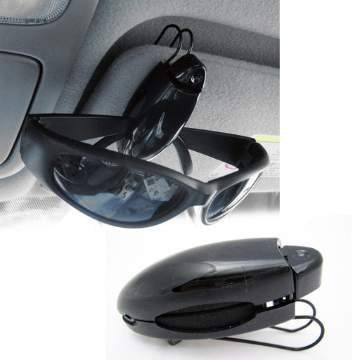2 Sunglass Visor Clip Sunglasses Eyeglass Holder Car Auto Reading Glasses Black