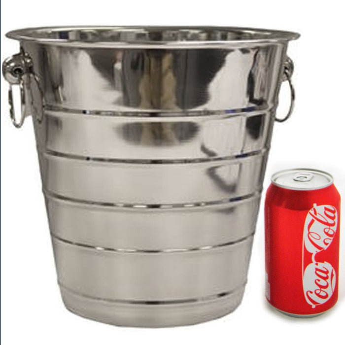 Large Stainless Steel Ice Bucket Wine Champagne Beer Cooler Bar Party Restaurant