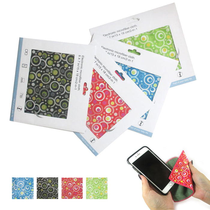 4 Microfiber Cloths Lens Glasses Camera Lens TV Cellphone Cleaning Cloth Glass