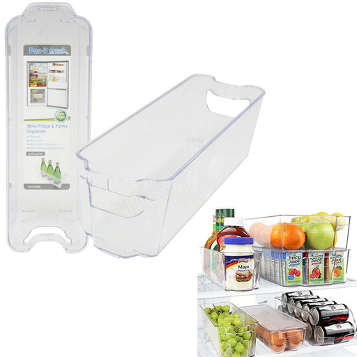 "1 Slim Fridge Pantry Organizer Cabinet 12.75""L Kitchen Food Space Saver BPA Free"