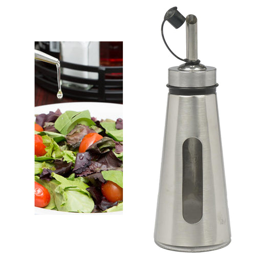 1 Stainless Steel Oil Vinegar Pour Dispenser Can Drizzler Spout Kitchen Tool 7""