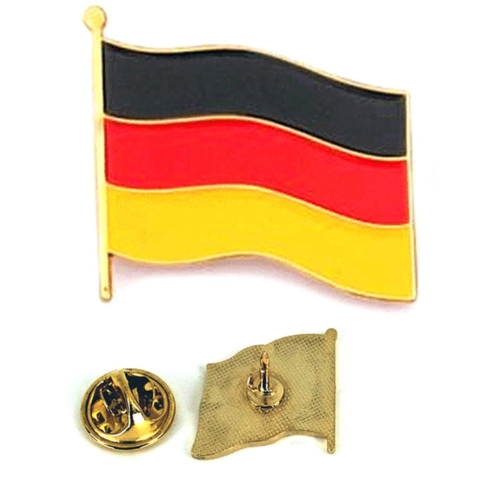 1 Pc Germany German National Deutschland Flag Waving Metal Lapel Pin Hat Badge