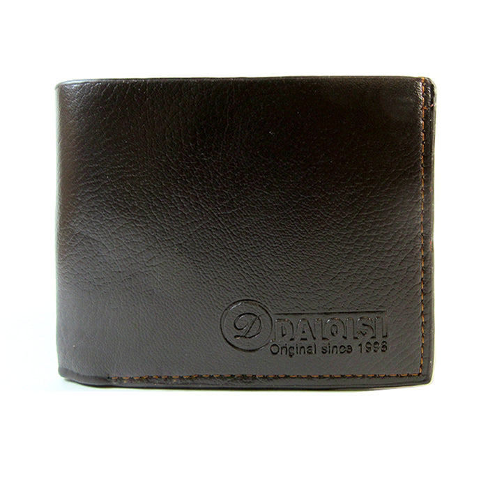 Mens Wallet Pockets ID Credit Card Holder Money Genuine Leather Bifold Brown New