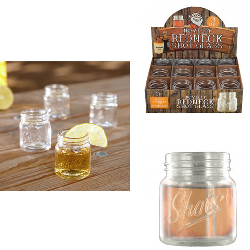 Set Of 10 Jar Shot Glasses Mini Mason Design 3 Oz Whiskey Moonshine Party Glass