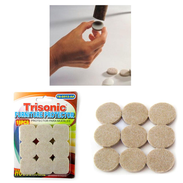 18 Felt Pad Anti Skid Furniture Protection Self Adhesive Floor Scratch Protector