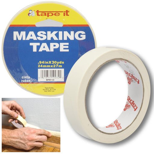 "3 Rolls Masking Paint Tape Multi Surface Painters Arts Craft 0.94"" x 30 Yd Beige"