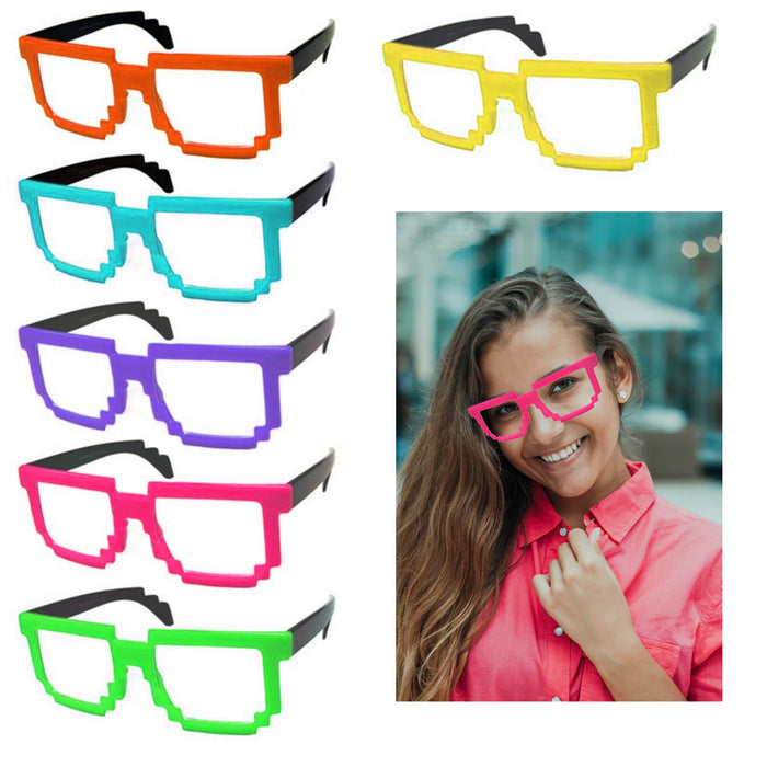 2 Pc Party Glasses Vintage Sunglasses Axel Frame UV400 Shades Fashion Eyewear