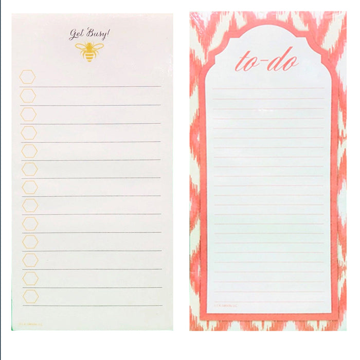 6 X Magnetic To Do Lists Note Pads Memo Notepad Stick To Fridge Grocery Shopping