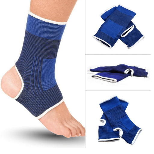 2 Ankle Brace Support Elastic Compression Sleeve Therapy Foot Pain Relief Small
