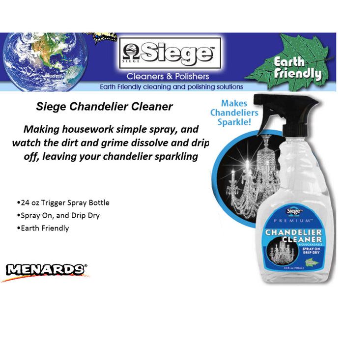 2x Chandelier Cleaner Spray Refill 24oz Light Fixture Glass Crystal Polish Shine
