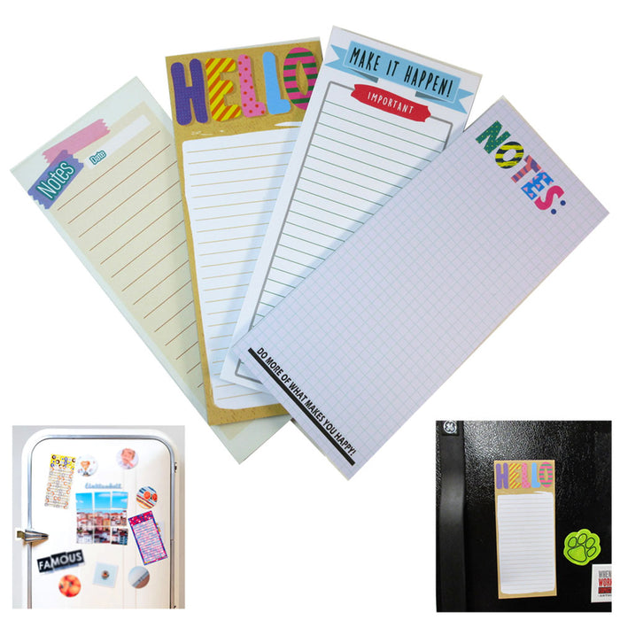 6 X Magnetic Note Memo Pads Grocery Shopping To Do Lists Notepad Stick To Fridge