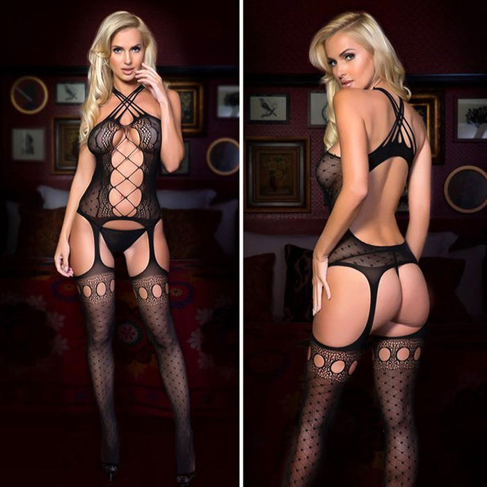 Sexy Lingerie Bodystocking Stockings Babydoll Bodysuit Nightwear Lace Sleepwear