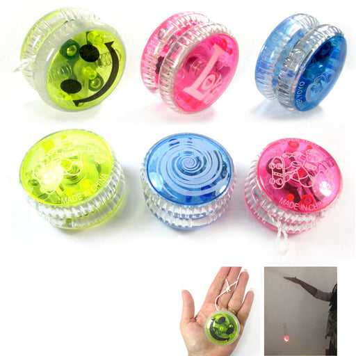 3 Light Up YoYo Balls Juggling Magic Toy Glow Moves Flashing LED Kids Fun Color