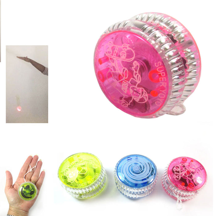 1 Flashing YoYo Ball Light Up Juggling Magic Toy Glow Moves Flashing LED Color