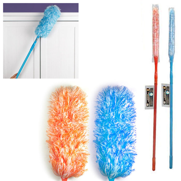 1 x Telescopic Microfiber Duster 6.5 Feet Extendable Cleaning Dust Home Car Tool