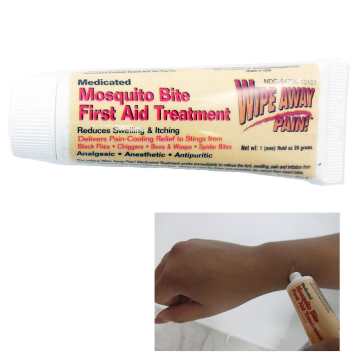 Mosquito Medicated Relief Gel Wipe Away Pain Anti Itch Insect Bite First Aid New