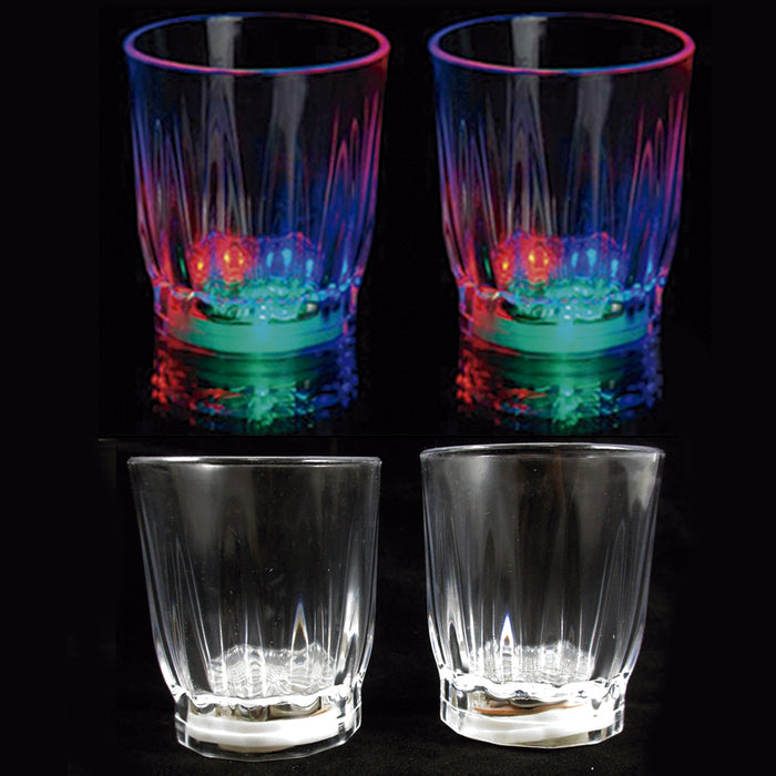 4 pcs Multi Color Flashing LED Light Up Shot Glasses Drink Barware Party Supply