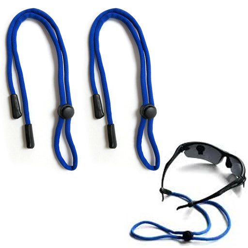 2 Blue Sunglasses Lanyard Nylon Neck Strap Glasses Retainers Cord String Sports