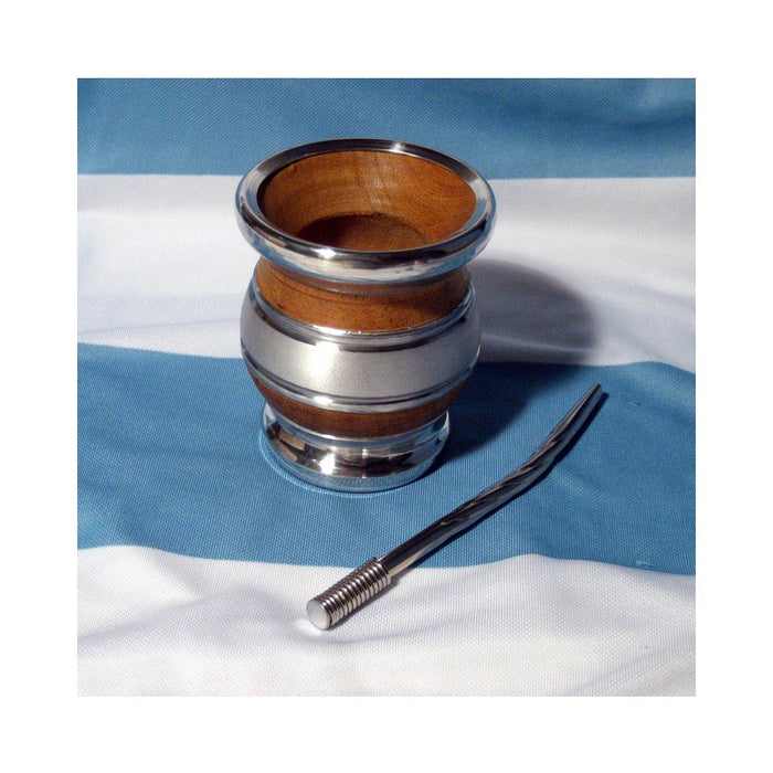 ARGENTINA MATE GOURD ALGARROBO YERBA TEA CUP STRAW BOMBILLA KIT WEIGHT LOSS 0178
