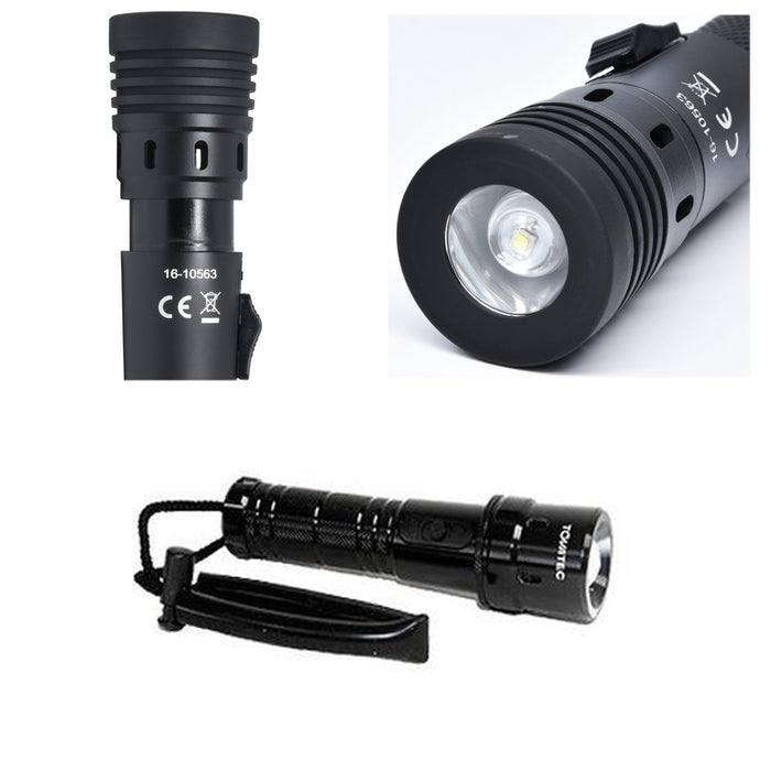 Intova Tovatec Fusion Torch Flashlight Waterproof Rechargeable 260 Lumens Zoom
