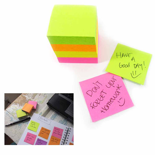 "1 Mini Memo Pad Cube 400 Sheets Sticky Note Self Adhesive Grocery List 1.5""x1.5"""