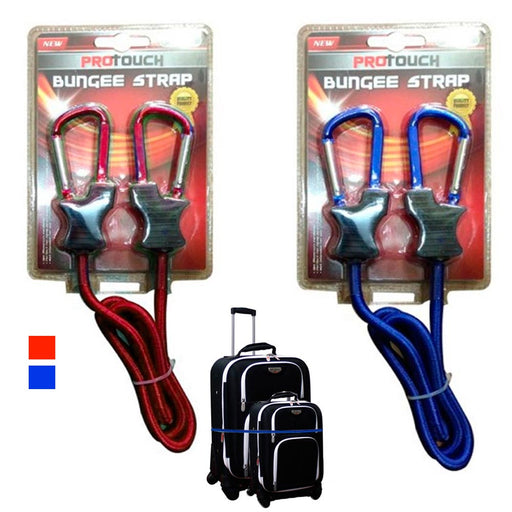 1 Pc Bungee Strap Cord Tie Down Tarp Luggage Aluminum Carabiner Secure Bags 3 Ft