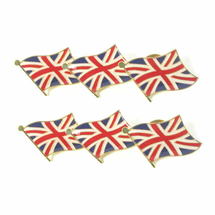 6 Pack British Flag Lapel Pin 0.5 UK Great Britain England Union Jack Pinback