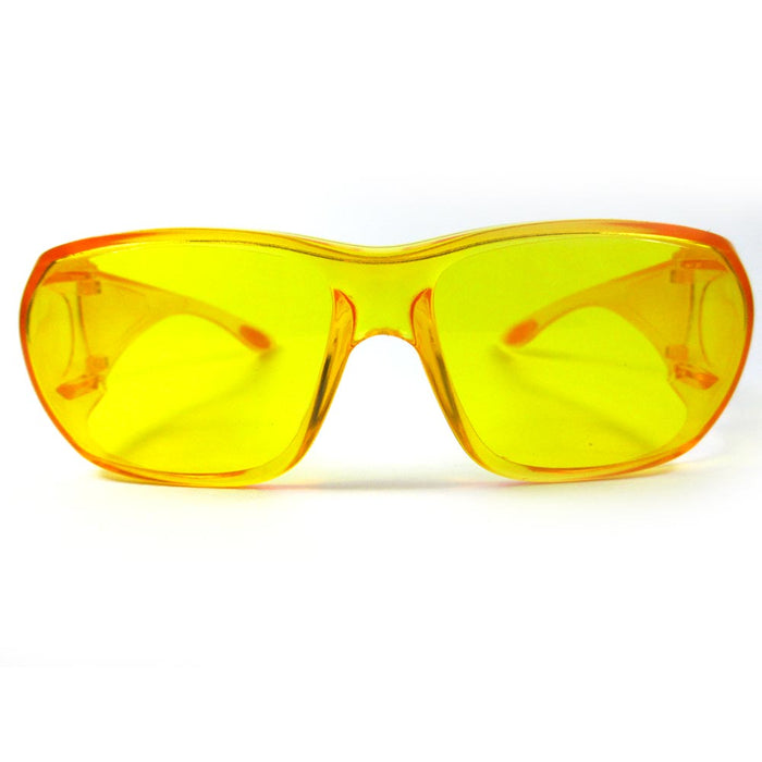 1X Yellow Lens Sunglasses Glasses Cover Sport UV400 Eyewear Safety Night Driving