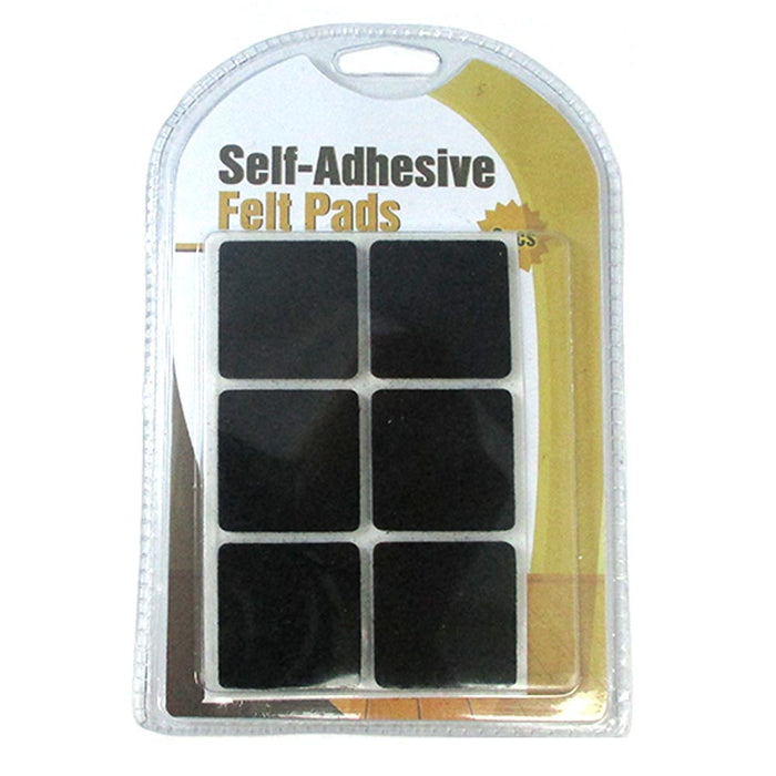 38 Pc Self Adhesive Shapes Felt Pads Furniture Floor Scratch Protector Black New