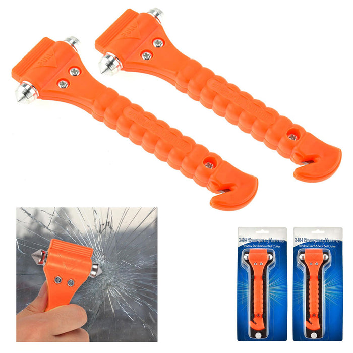Emergency Hammer 2 In 1 Car Window Break Safety Auto Seat Belt Cutter Punch Tool