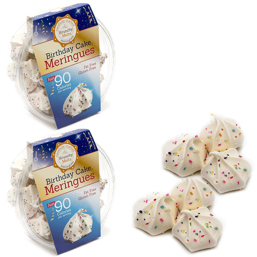 2 Boxes Birthday Cake Meringues Cookies Gluten Fat Free Snacks Kosher Sweets