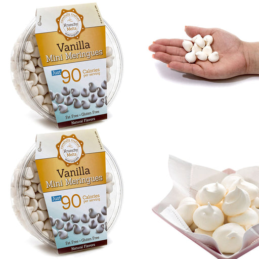 2 Boxes Vanilla Mini Meringues Cookies Gluten Fat Sugar Free Kosher Sweets Snacks